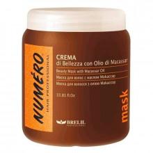 Brelil Маска для волос укрепляющая и питательная с маслом макассар и кератином Numero Macassar Oil 1000 мл