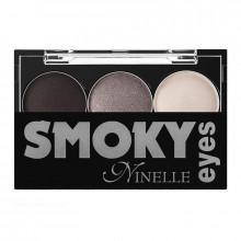 Ninelle Тени для век Smoky Eyes трехцветные компактные