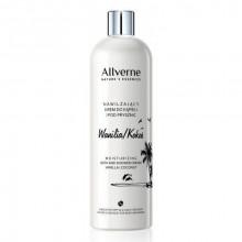 Allverne Увлажняющий кремовый гель-пена для ванны и душа Ваниль+Кокос