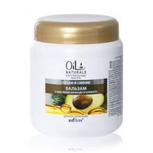 Белита - Витэкс Oil Naturals Бальзам с маслами АВОКАДО и КУНЖУТА Объем и Сияние