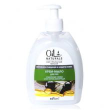 Белита - Витэкс Oil Naturals Крем-мыло для рук с маслами оливы и косточек винограда Бережное очищение и защита кожи