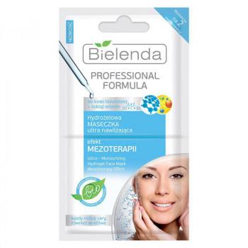 Bielenda Гидрогелевая ультраувлажняющая маска для лица с эффектом мезотерапии Professional Formula