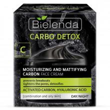Bielenda Универсальный увлажняющий матирующий угольный крем для лица Carbo Detox