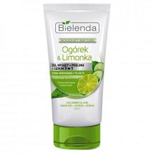 Bielenda Антибактериальный гель для умывания+пилинг+сыворотка 3в1 Cucumber & Lime