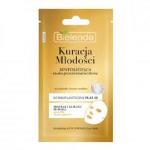 Bielenda Ревитализирующая маска для лица со слизью улитки Kuracja Mlodos (тканевая)