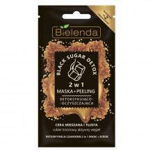 Bielenda Детоксифицирующая и очищающая маска-пилинг 2в1 для жирной и комбинированной кожи лица Black Sugar Detox