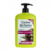 Corine de Farme Восстанавливающий шампунь с маслом карите и экстрактом оливок для поврежденных волос Family