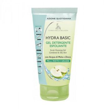 Clinians Очищающий гель-скраб для комбинированной и жирной кожи с яблочной водой Hydra Basic