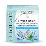 Clinians Ежедневный увлажняющий крем для лица с минералами и растительной водой белого чая Hydra Basic