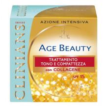 Clinians Age Beauty Крем-лифтинг тонизирующий для зрелой кожи лица с коллагеном