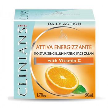 Распродажа Clinians Увлажняющий энергетический крем для лица с комплексом Energilium Attiva Energizzante