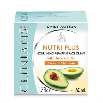 Clinians Питательный восстанавливающий крем с маслом авокадо для сухой и хрупкой кожи Nutri Plus