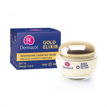 Распродажа Dermacol Дневной омолаживающий крем с экстрактом икры Rejuvenating Caviar Day Cream Gold Elixir
