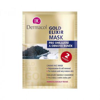Dermacol Омолаживающая маска для лица с экстрактом икры Rejuvenating Caviar Face Mask Gold Elixir