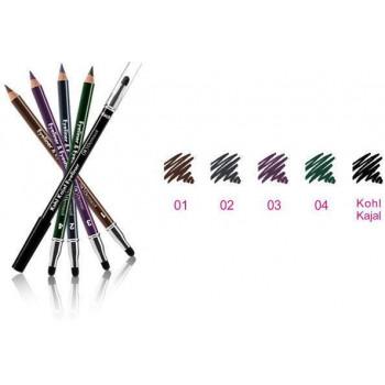 Dermacol Make-Up Каяловый карандаш для глаз с аппликатором Kajal Eyeliner-Eyeshadow