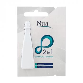 Nua Шампунь+бальзам 2в1 для всех типов волос, сашет