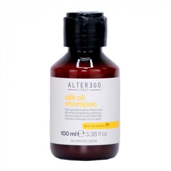 Alter Ego Шампунь для блеска густых и пористых волос с эффектом шёлка Length Treatments Silk Oil Shampoo