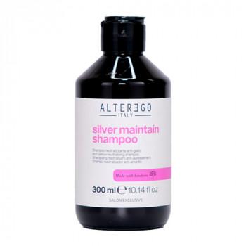 Alter Ego Шампунь против желтизны окрашенных и светлых волос Length Treatments Silver Maintain Shampoo