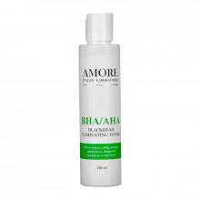 Amore Концентрированный тоник для лица с кислотами против черных точек и акне