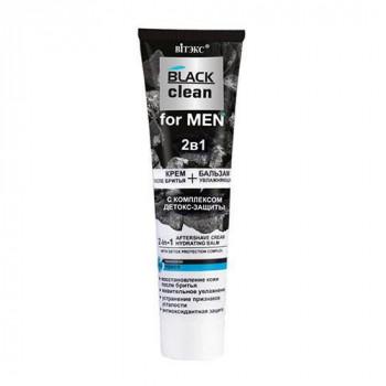 Белита - Витэкс Крем-бальзам после бритья увлажняющий 2в1 Black Clean for Men