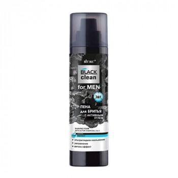 Белита - Витэкс Пена для бриться с активным углём 3в1 Black Clean for Men