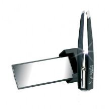 Beter Пинцет для удаления волос с косыми кончиками, с подсветкой и зеркальцем La Pinzette