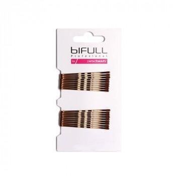 Bifull Professional Невидимка гофрированная, 51 мм Clip Waved Bronze