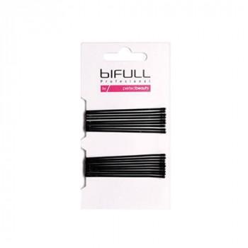Bifull Professional Невидимка гладкая, 59 мм Clip Flat Black