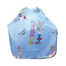 Bifull Professional Детский голубой пеньюар для стрижки Textil Kids Cutting Cape