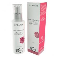Bioearth Очищающее молочко-тоник 2в1 на основе розы москета Bioprotettiva