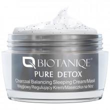 Biotaniqe Ночная сбалансированная крем-маска с активированным углем Pure Detox