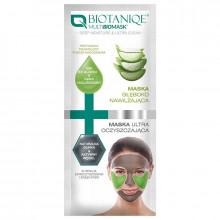 Biotaniqe Маска для лица глубокое увлажнение+ультраочищение Deep Moisture+Ultra Cleansing Multi BIOMask Duo