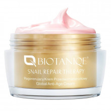 Biotaniqe Универсальный восстанавливающий крем для лица против морщин со слизью улитки Snail Repair Therapy Global Anti-Age 70+