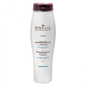 Brelil Себорегулирующий шампунь для жирных волос и кожи головы Biotreatment Pure