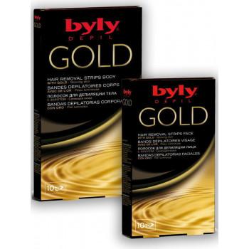 Byly Gold Восковые полоски для депиляции тела
