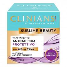 Clinians Защитный крем для лица, выравнивающий цвет, с виноградной водой Sublime Beauty