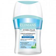 Clinians Двухфазный демакияж для снятия водостойкого макияжа с глаз и губ с соком алоэ вера Hydra Plus