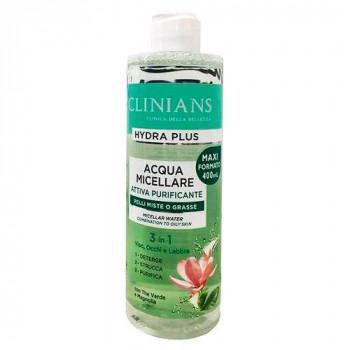 Clinians Мицеллярная вода 3в1 для комбинированной и жирной кожи Hydra Plus Attiva Purificante (400 мл)