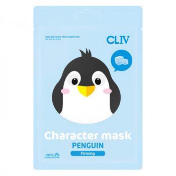 """Cliv Тканевая маска для упругости кожи лица """"Пингвин"""""""