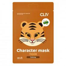 """Cliv Тканевая успокаивающая маска для лица """"Тигрёнок"""""""