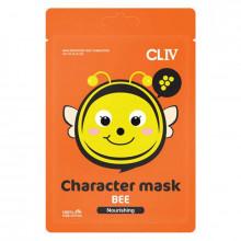 """Cliv Тканевая питательная маска для лица """"Пчёлка"""""""