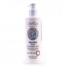 DeBa Гель мицеллярный для интимной гигиены подростков с молочной кислотой Delicate Care