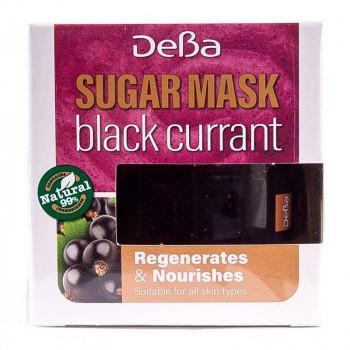 """Восстанавливающая питательная маска для лица и губ """"Черная смородина"""" Sugar Mask DeBa"""