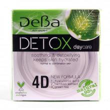 DeBa Дневной крем для нормальной и комбинированной кожи лица с 4D гиалуроновой кислотой Detox