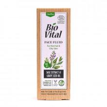 DeBa Флюид для нормальной и жирной кожи лица с экстрактом шалфея и маслом семян винограда Bio Vital