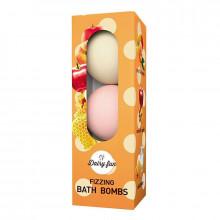 """Delia Ароматизированные шарики для ванной """"Персик-манго, карамельное яблоко, молоко-мед"""" Dairy Fun"""