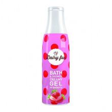 Delia Гель для душа с ароматом клубники Dairy Fun