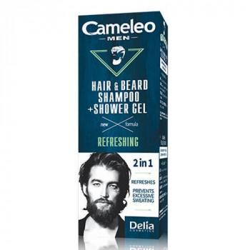 Delia Шампунь для волос и бороды + гель для душа 2в1 Cameleo Men