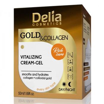 Delia Витализирующий крем-гель для лица Gold&Collagen