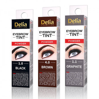 Delia Краска для бровей в порошке Eyebrow Tint Powder